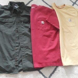 Carhartt men's shirts lot Large